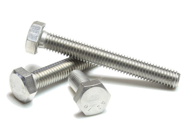 Plain / Polished Hex Head Bolt , Alloy Steel Brass Fully Threaded Hex Bolts Class 8.8