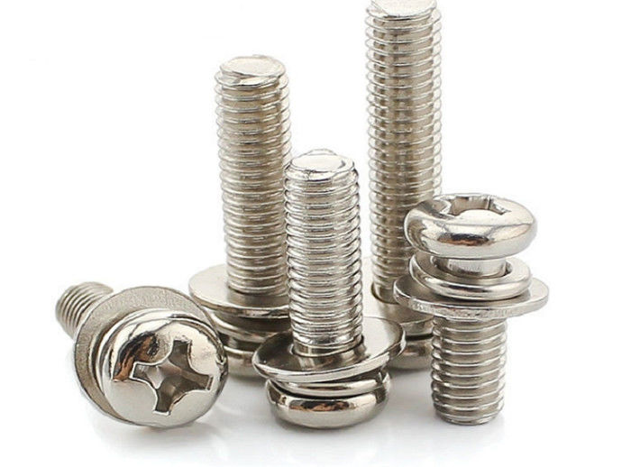 Philips Cross Recess Pan Head Sems Screws With Spring Washer And Flat Washer 6mm - 100mm
