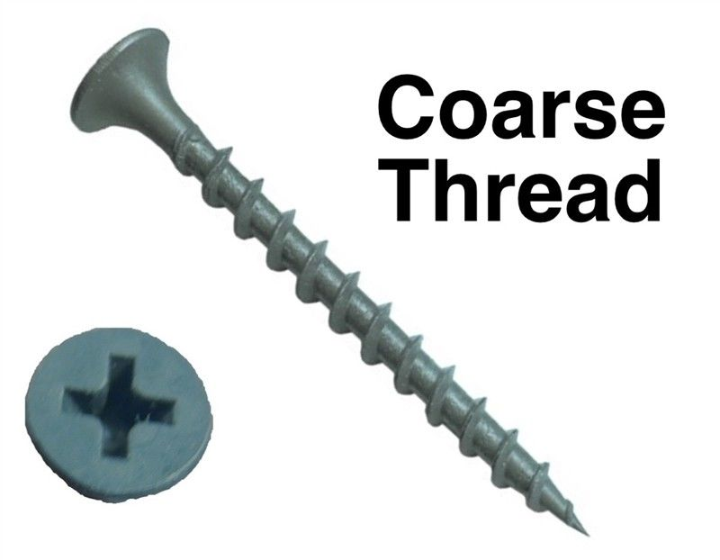 Sharp Point Hardened Steel Bugle Head Drywall Screws With No 2 Phillips Recess Flat Head