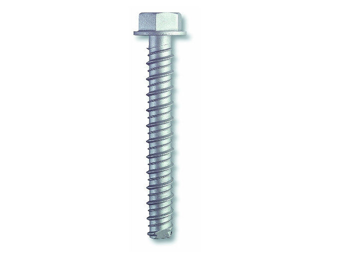 "Large Diameter Hex Washer Serrated Self Tapping Concrete Screw Anchors Zinc Plated 3/8 "" X 3 """